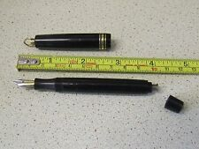 Very Rare Vintage AKKERMAN Ring Top Button Fill Fountain Pen 14CT Two-Tone Nib.