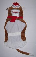 NWT Plush Sock Monkey Pet Costume Large -  Dog clothes Halloween