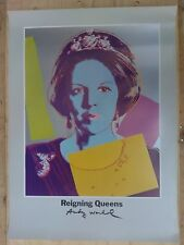 1986 ANDY WARHOL, QUEEN BEATRIX OF THE NETHERLANDS, FROM REIGNING QUEENS POSTER