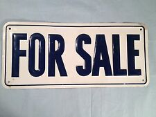 "VINTAGE EMBOSSED "" FOR SALE ""  ADVERTISING TIN SIGN  15"" x 6 3/4"""