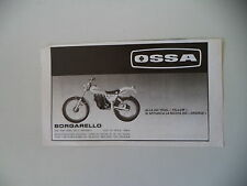 advertising Pubblicità 1981 MOTO OSSA 350 TRIAL YELLOW