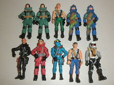 "Lot of 10 Military Special Forces GI Joe Style Loose 4 1/2"" Action Figures"