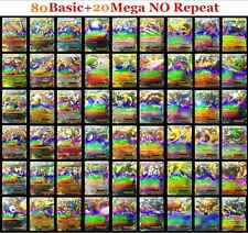 Pokemon 100 CARD HOLO COM/UNC, & EX, MEGA OR RARE FULL ARTLOT GUARANTEED