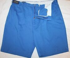 Polo Ralph Lauren Big and Tall Mens Blue Flat-Front Chinos Shorts NWT Waist 42 T