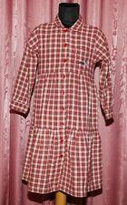 s. OLIVER ☺ Flanell Kleid mit Volante ☺ Gr. 116 ☺ *TOP* rot/natur/grau karriert