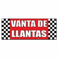 VENTA DE LLANTAS TIRE SALE Auto Body Shop Banner Sign 3 ft x 6 ft /w 6 Grommets