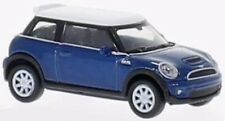 Welly 73128 MINI COOPER S dunkelblau/weiss  1:87 suberb detail