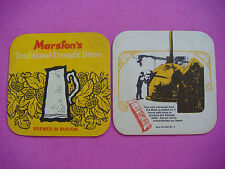 Beer Coaster ~ MARSTON'S Real Ale Mat No. 1 ~ Brewed in Burton on Trent, ENGLAND