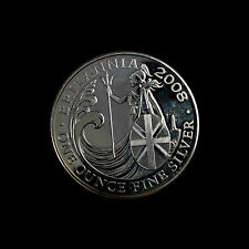 2008, 1oz fine Silver Britannia, £2  Uncirculated