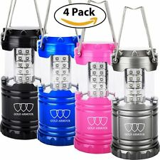 [4 PACK] LED CAMPING LANTERN FLASHLIGHTS - HURRICANE EMERGENCY TENT LIGHT
