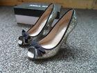 Miss KG (Kurt Geiger) Serena Bronze High Heel Peep Toe Court Shoes SIZE 38 VGC