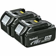 2 Pack Makita BL1840 18V 18 Volt LXT 4.0Ah Lithium-Ion Cordless Tool Batteries