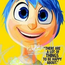 Joy inside out canvas quotes wall decals photo painting framed pop art poster