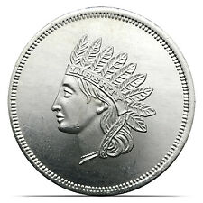 Vintage Indian Head Penny Design 1 Troy oz .999 Fine Silver Coin (0138)