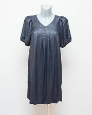 DIESEL Designer Blue Oversized Balloon Dress Tunic Short Sleeves Size XS UK 8-10