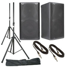dB Technologies Opera 12 (Pair) With Speaker Stands + Bag & Cables