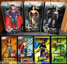 Wonder Woman Barbie Doll Batman Superman Batgirl Supergirl Super Hero Lot 7 VG