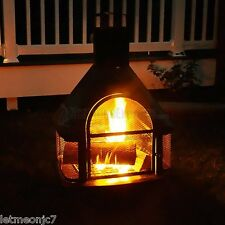 BBQ Firepit Chimney Backyard Patio Deck Fireplace Woodburning Stove Outdoor Pool