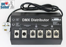 DMX Distributor Splitter Booster - 2 Way 1 Input 2 Output 3 Pin 5 Pin XLR