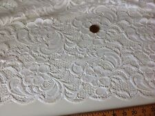 NEW High Class Designer Ivory Stretch Net Guipure Floral Scalp Lace Fabric Off W