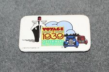 """NICE VOYAGE TO 1939 QUEEN MARY PIN BACK BUTTON 2 3/4"""""""
