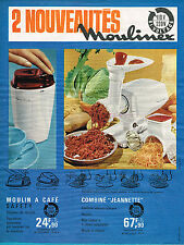 PUBLICITE  advertising 1966   MOULINEX    combiné Jeanette moulin  a café