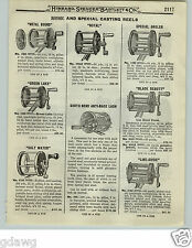1919 PAPER AD Pflueger Interocean Surf Casting Redifor Fishing Reel Golden West