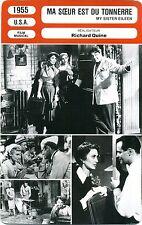 Fiche Cinéma. Movie Card. Ma soeur est du tonnerre/My sister eileen (USA) 1955