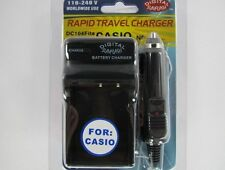 Casio NP-110... DC104 Fits Wall & Car Charger by Digital Sunflash - Black
