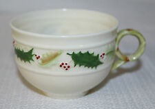 """Beautiful Belleek """"Holly"""" Coffee/Tea Cup With Gold Stamp"""
