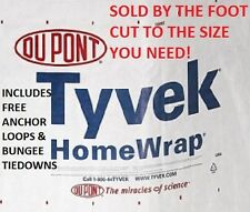 9' Tyvek Homewrap Ultralight Hiking Camping Backpacking Tent Tarp FREE TIEDOWNS