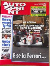AUTOSPRINT n°21 1993 Gp Monaco Ayrton Senna Mondiale   [P69]
