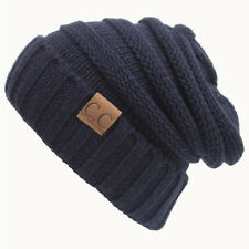 Men Women Winter Warm Unisex Knit Ski Crochet Slouch Baggy Hat Cap Beanie Hats