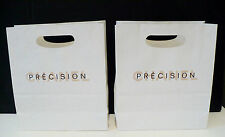 """2X CHANEL PRECISION Shopping Bags EMPTY Bags Only 8 1/4"""" X 9 1/2"""" Very Good Con."""