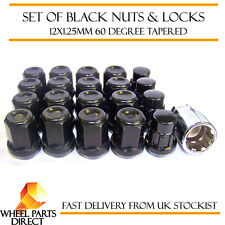 Black Wheel Nuts & Locks 16+4 12x1.25 Bolts Nissan 200SX S13 4 Stud Mk3 88-96