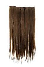 Haarteil Haarverlängerung breit 5 Clips dicht glatt Mittel-Braun 60 cm L30172-10