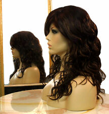 Forever Young Roll With It Wig (Color Cappuccino) Long Curly Wavy Red Brunette