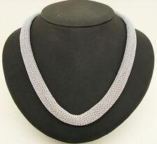 collana ADAMI & MARTUCCI metallo tessuto color argento e chiusura in argento