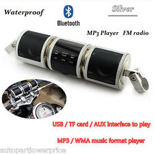 Motorcycle Bluetooth Car Audio Radio Stereo MP3 Player FM/USB/TF Speakers System
