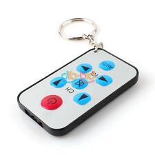 Mini Universal AV TV Remote Controller Keychain Keyring Key Ring 7 Keys