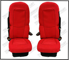 SCANIA 4 VELOUR SEAT COVERS IN RED [TRUCK PARTS & ACCESSORIES]