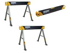 "2-Pack 41.5"" Steel Folding Sawhorse Heavy-Duty Portable Work Saw Horse Pair New"