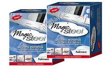 MAGIC STEEL FALMEC 20 SALVIETTE 2 (SCATOLE) PROTEZIONE PULIZIA ACCIAIO CLIN CLIN