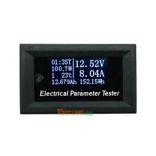100v/10A Tester Voltage Current Time Temperature Capacity Voltmeter Ammeter