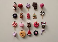 VENTE FLASH lot de 20 breloques fimo bijoux bonbons gourmands pour créations