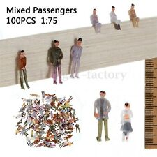 100x Plastic Hand Painted Layout Model Train Street People Figure 1:75 Scale