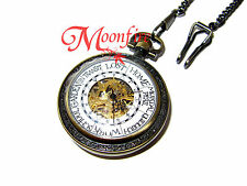HARRY POTTER WEASLEY FAMILY CLOCK POCKET WATCH NECKLACE MECHANICAL HAND WIND!!!