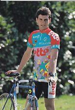 CYCLISME carte cycliste STEPHANE HENNEBERT équipe LOTTO caloi mavic 1993