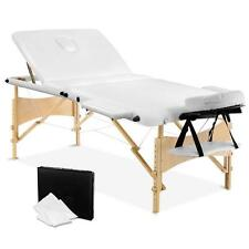 Portable 3 Fold Massage Table Chair Bed Foldable w/ Carry Bag 70cm Wide - White