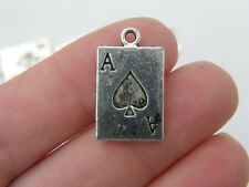 8 Ace of spaces antique silver tone P279